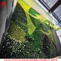 OEM vertical garden with artificial plants vertical wall garden