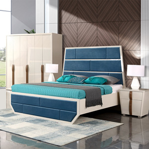 Space saving wooden bed pictures bedroom set/high glossy dubai bedroom meubles salon bed set