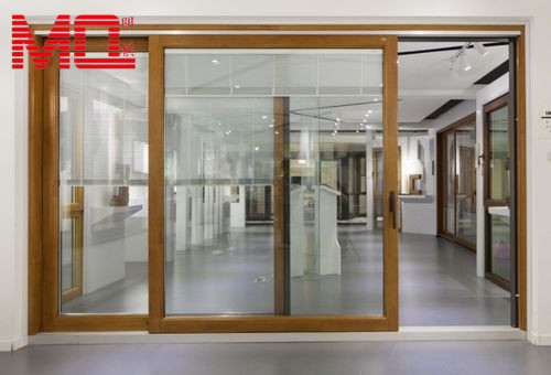 Aluminium large sliding glass doors with inside blinds for Sliding main door