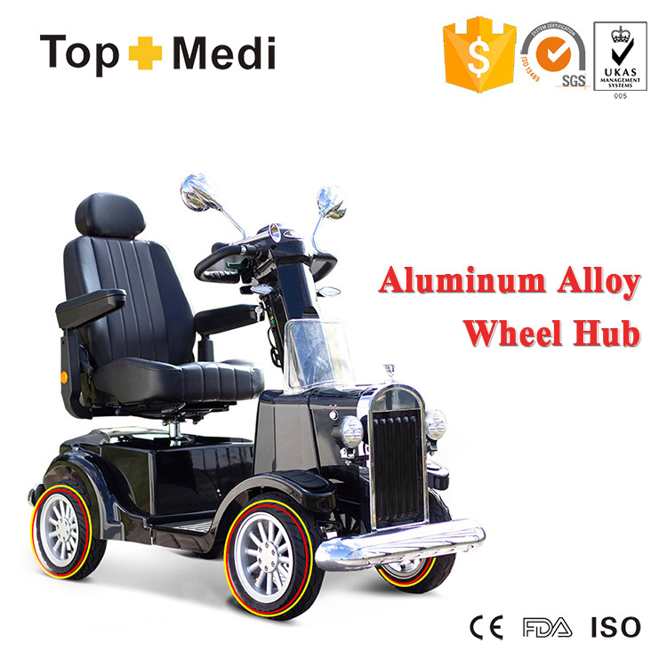 2017 new old school style 4 wheel electric mobility scooter handicapped with chair for disabled