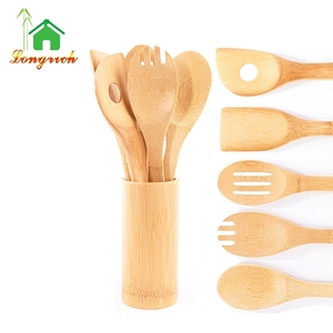Cooking Utensils Kitchen Ladle Set Choice of Bamboo Spoon Sets