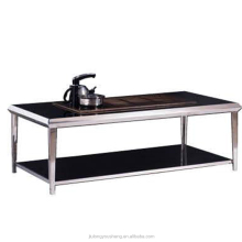 Glas top center tafel ontwerp CJ-012 moderne houten center thee tafel