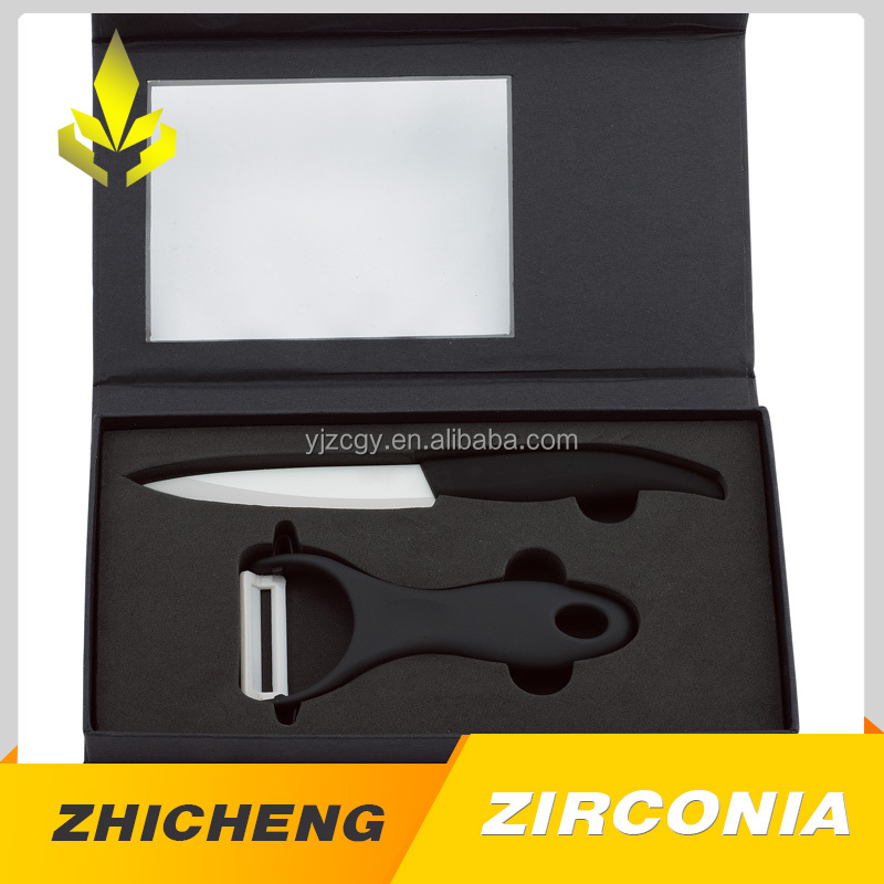Kitchen zirconia ceramic knife and peeler with gife box