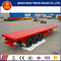 truck trailer use and 12500*2480*1550 mm size 3 axle 40ft flat bed trailer for transporting container