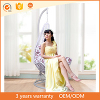 Modern Outdoor famous design wicker rattan furniture leisure hanging basket swing chair patio furniture set