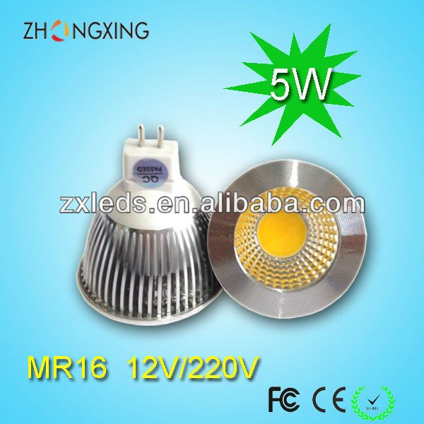 cob spot lamp 12v 5000k mr 16 led