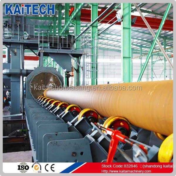 QGW series steel pipe inner and outer wall shot blasting machine/Steel Pipe Derusting Production