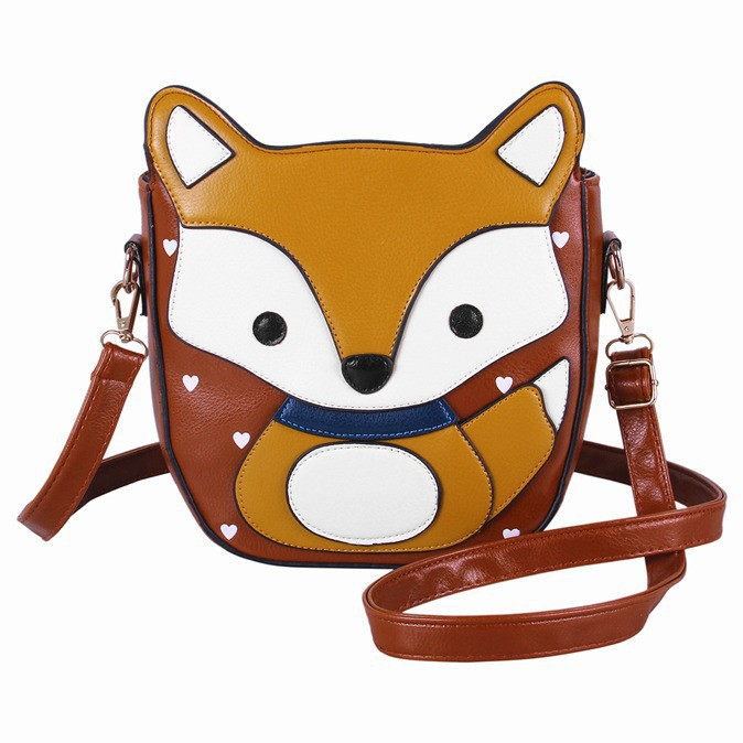 2015 New arrival Cartoon Bag Owl Shoulder Bags Leisure Women Leather Handbag Fox wallets Women Messenger Bag casual bag