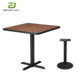 Dark solid dining wood table 6 chairs