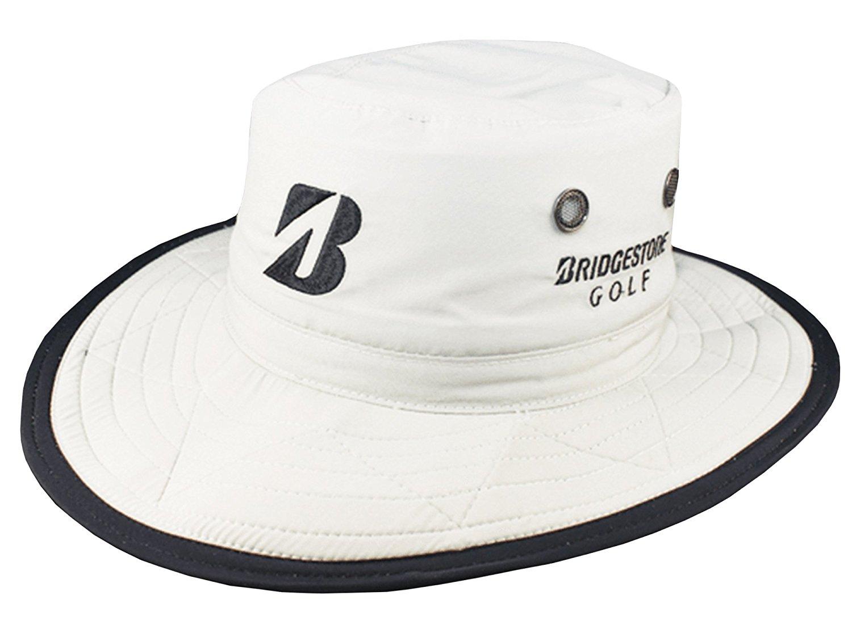 2015 Bridgestone Golf Boonie / Aussie Bucket Hat COLOR: White SIZE: L/XL