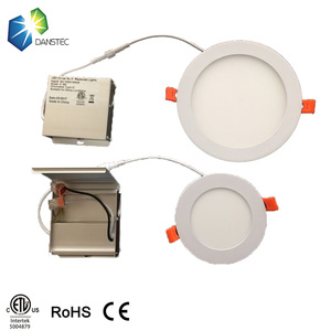 2018 hot new 8w 9w 10w 13w 15w 18w flat 4/6/8/10 inch round led panel light down light with driver in a metal box UL ETL(5004879