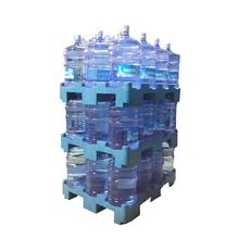 12 Water Bottle HDPE Plastic Stacking Water Pallet
