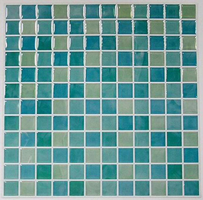 Tile transfer stickers home improvement kitchen bathroomself stick glass tiles