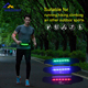 neoprene battery power hi vis flashing glowing reflective sport waist belt with LED light for running