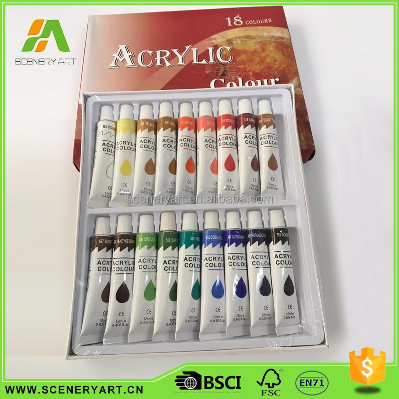 Standard Economic Well-designed kids painting acrylic paint set