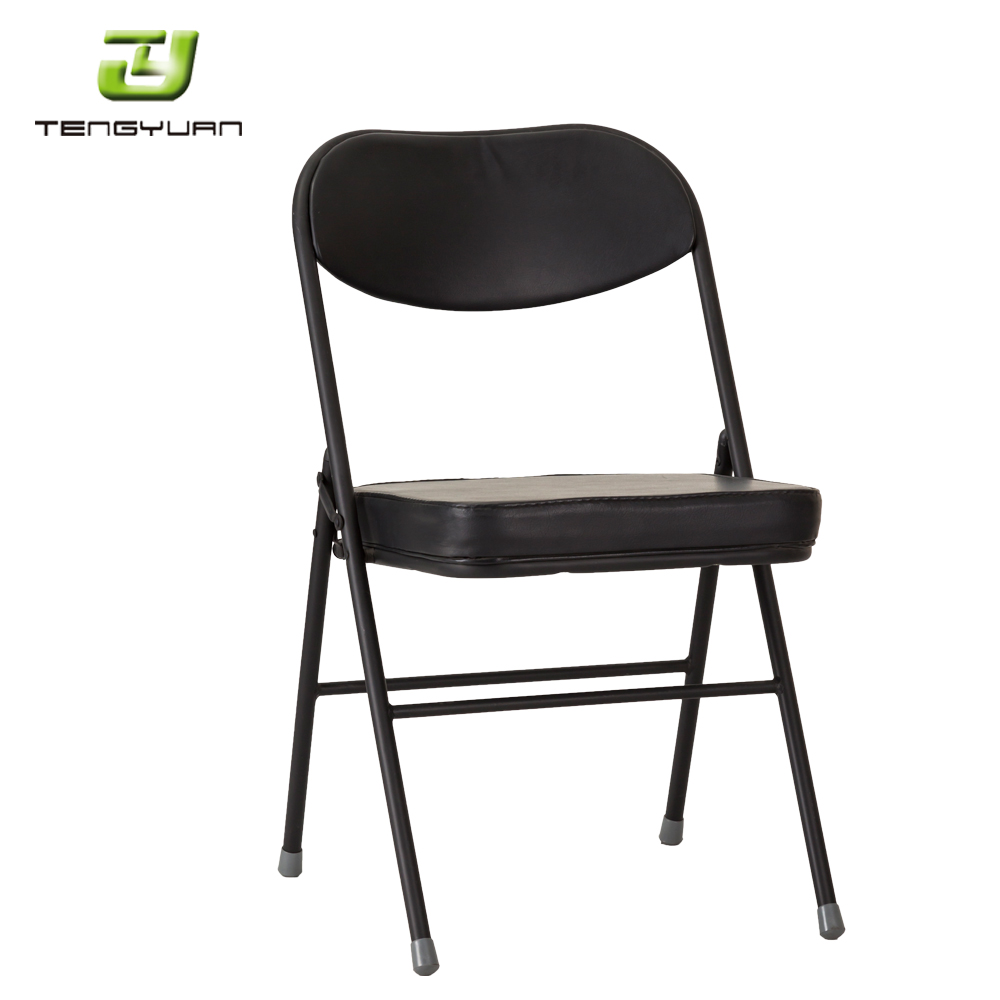 Hot sale cheap high quality iron frame PVC seat metal folding chair