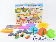 CHILDREN PARKING LOT TOYS WITH 3 CARTOON ORBIT CAR
