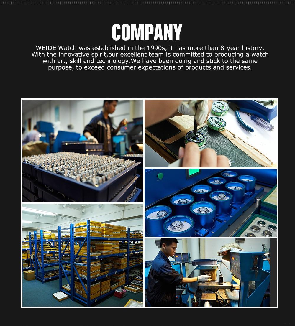 Watch wrist parts - Weide New Leather Strap 30meters Waterproof Brand Wrist Watch Parts Wh3305