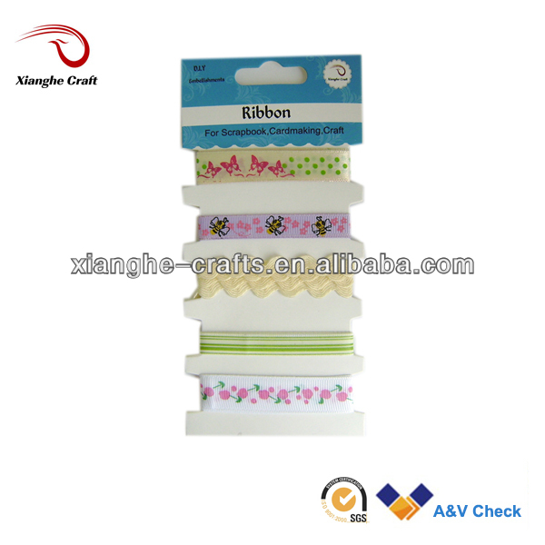 2013 Satin printed Ribbon/ Grosgrain Ribbon/ rick-rack for crafts