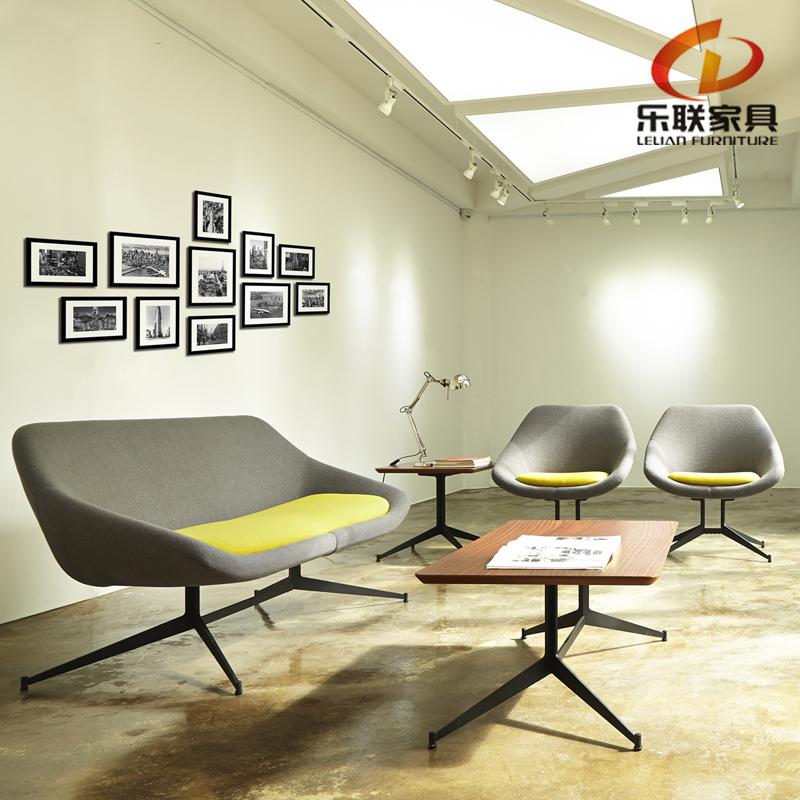 B323-A simple sala de espera diseño europeo colorido sillón sofá ...