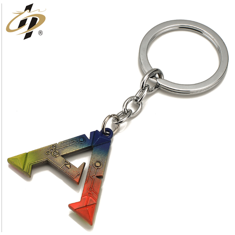Wholesale custom zinc alloy anodize plating metal letter charm necklace