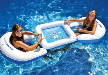 Hot Sale Swim Pool Game Table Floating Inflatable Float Chair With Card 2