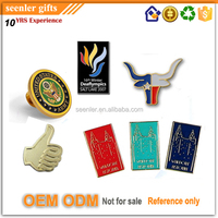 Super quality us custom logo cut out punching alloy nickel plated colorful enameled epoxy coating custom lapel pins no minimum