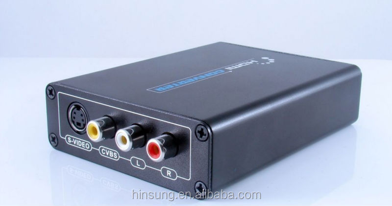 HDMI To AV RCA Composite & S-video Video R/L Audio Converter Support 720P/1080P hdmi to AV+S-video converter