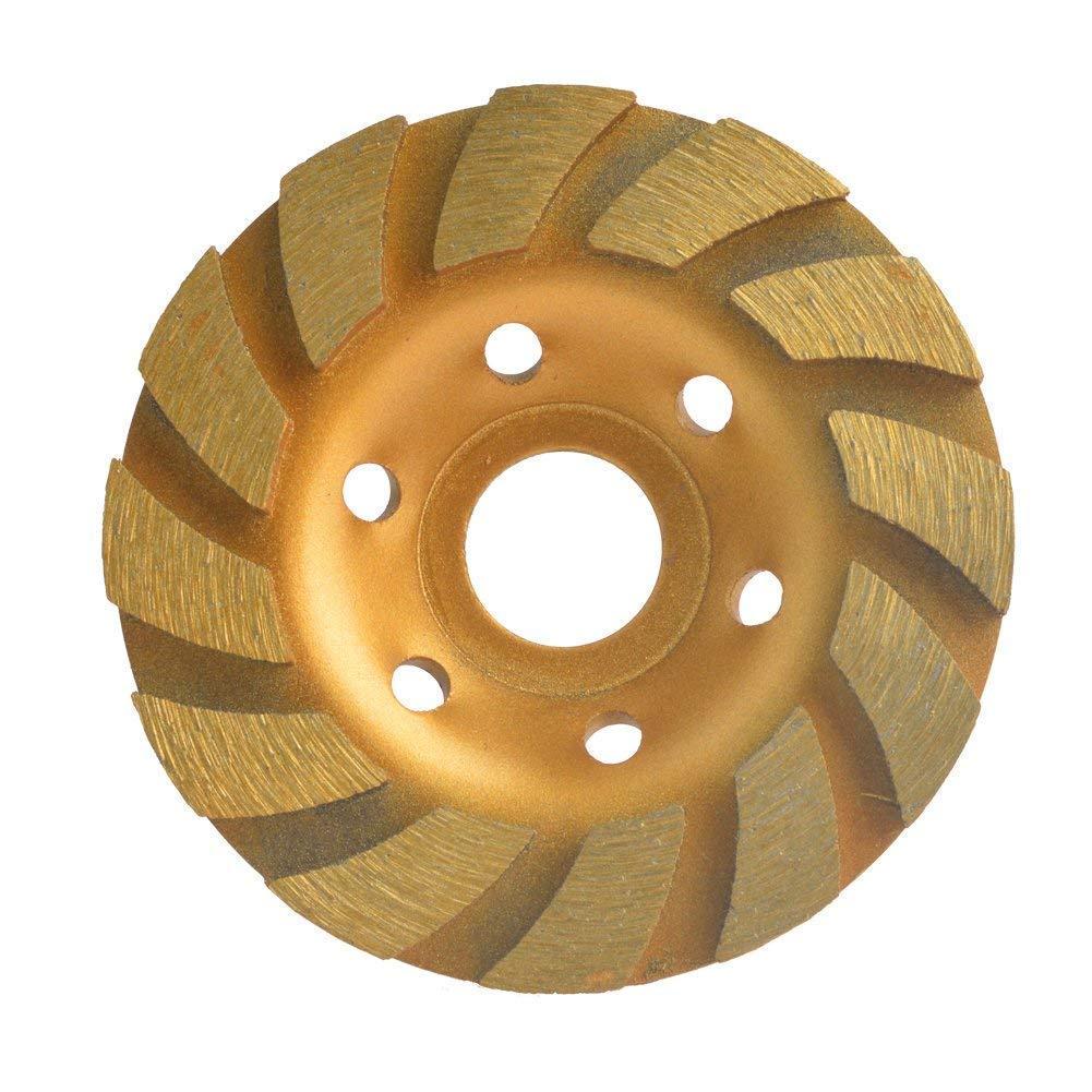 "4.5"" Spiral Turbo Concrete Diamond Grinding Cup Wheel 9 Segs 7//8/""-5//8"" Arbor"