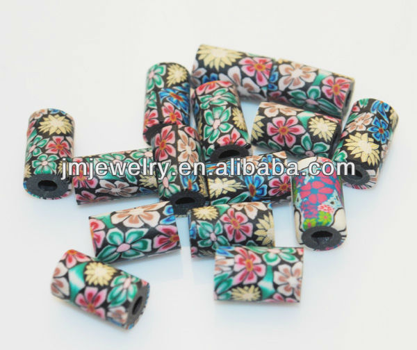 Vintage nation design for tube clay beads in bulk for DIy