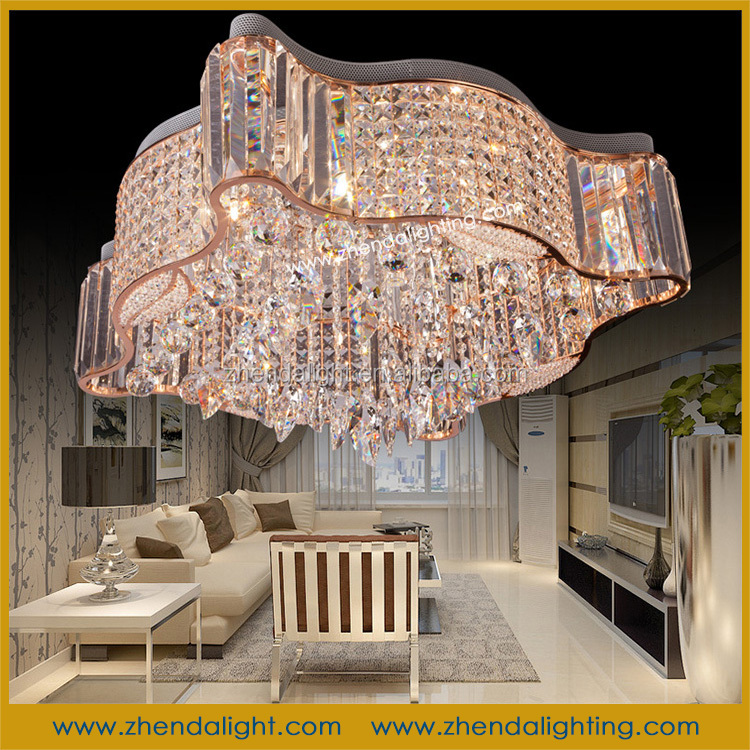 made in China Decorative lighting Crystal Chandelier ceiling light with spiral lamp shade D098/9
