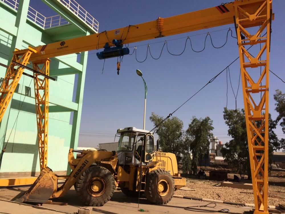 Heavy duty rail mounted crane electric hoist single girder gantry
