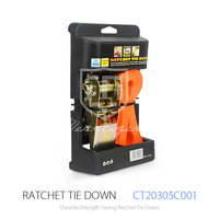 500kg PE Belt Cargo Lashing Strap and Ratchet Tie Down Strap