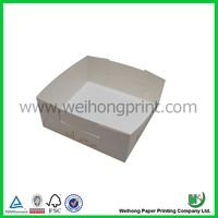 White paper tray box for burger with custom logo and printing