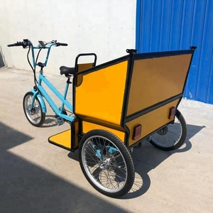 Best quality 48V 500W folding fat tire snow electric bike/bicycle taxi rickshaw for sale