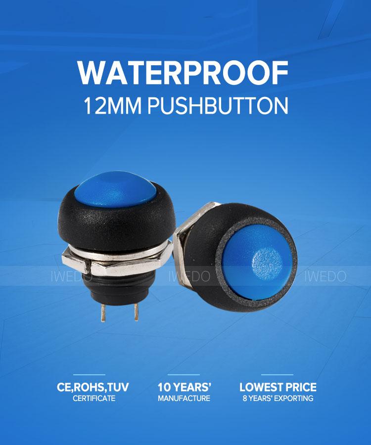 Mini Ball Head 12mm 3a 125v Pushbutton Switch Ip54 Rainproof Momentary  Pbs-33b - Buy Ip54 Waterproof Pushbutton Switch 12mm,1a 250v Pushbutton  Switch