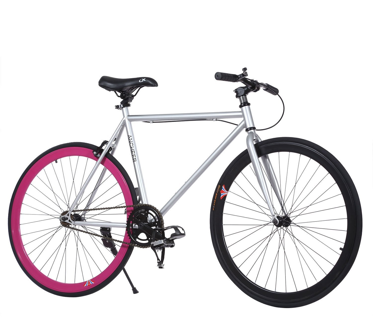 f7c0ccd7e81 Get Quotations · Ancheer Fixed Gear Bike Single Speed Urban Fixie Bike
