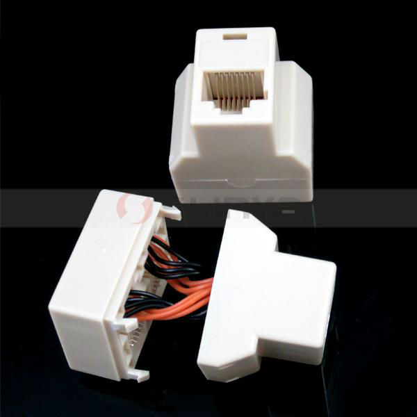 RJ45 Network Cable 1-to-2 Female-Female Spliter Coupler