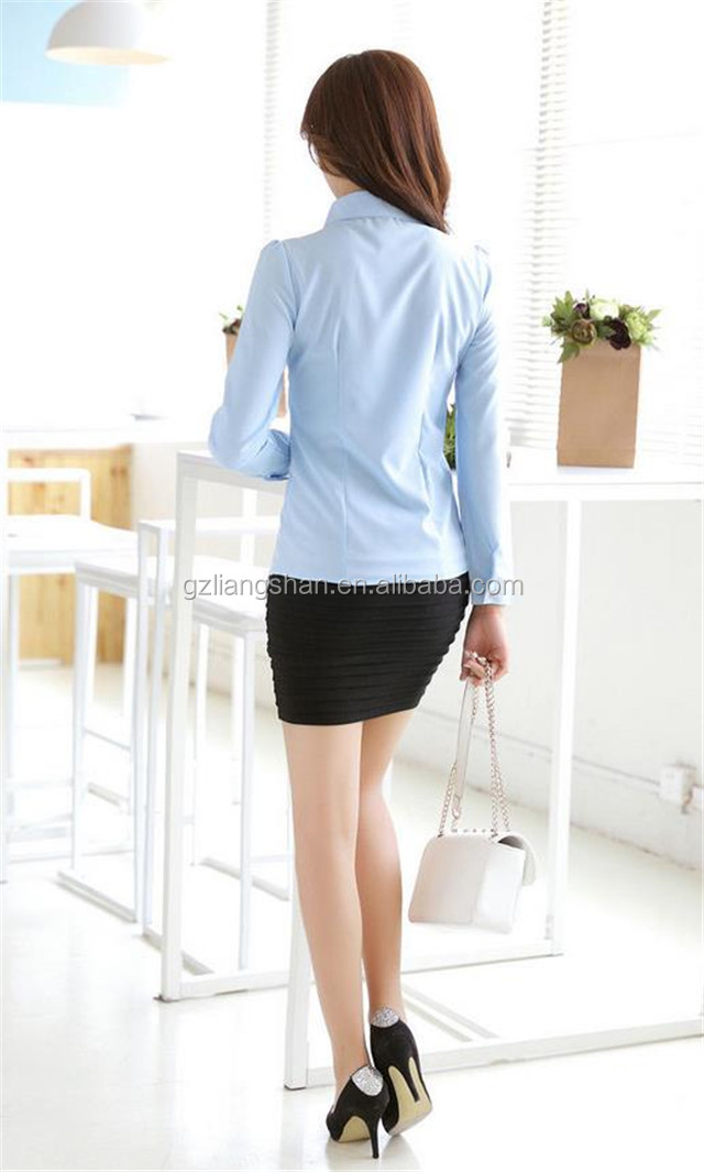 China Shirt Manufacturer Office Lady Formal Shirt For Girls Model ...