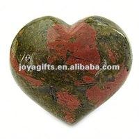 35MM Puffy heart shaped gemstone wholesale