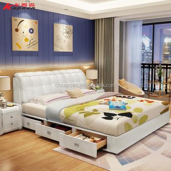 1.5 M/1.8 M Dormitorio Muebles Cama Doble Cuero De Diseño Moderno ...
