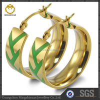 Bulk Colorful Gold Plating Epoxy Indian Earring