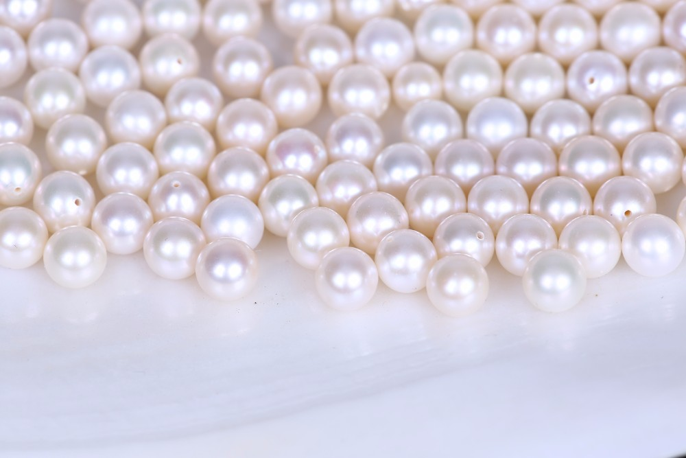 White Perfect Round AA Grade Freshwater Loose Bulk Round Pearls For Earring DIY