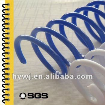 SGS colorful environmental plastic pvc spiral coil
