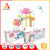 Eco-friendly newborn baby gift set electric musical hanging bed rattle toys