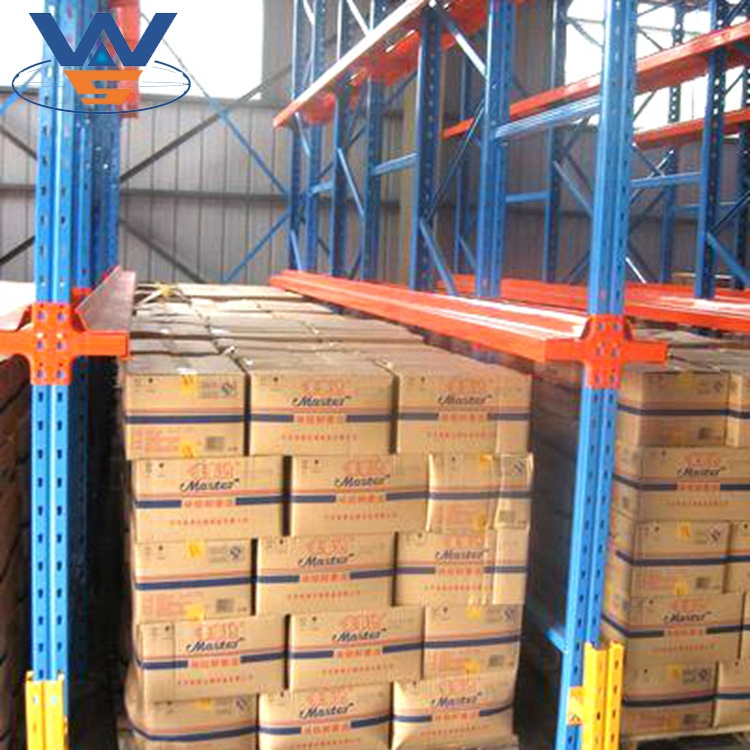 Warehouse Cold Storage Drive In Pallet Racking View