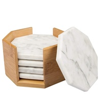 Hot Sale High Quality Sand Coaster Marble Hexagon Coaster