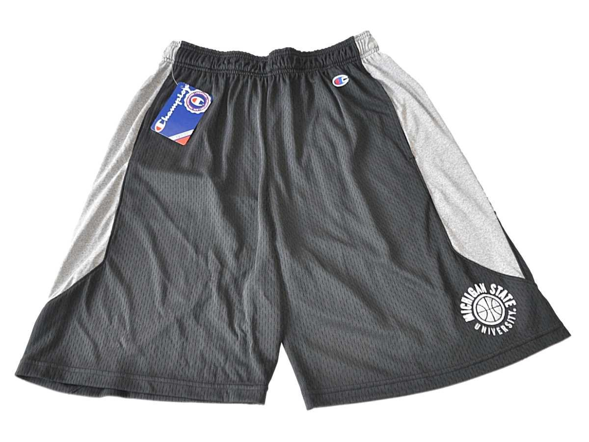 98be0feb4a31 Get Quotations · Michigan State Spartans Champion Black Basketball  Drawstring Athletic Shorts (L)