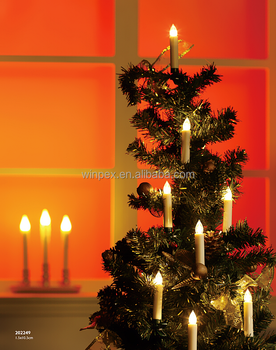 led christmas tree taper candles with remote and removable clip - Led Christmas Candles