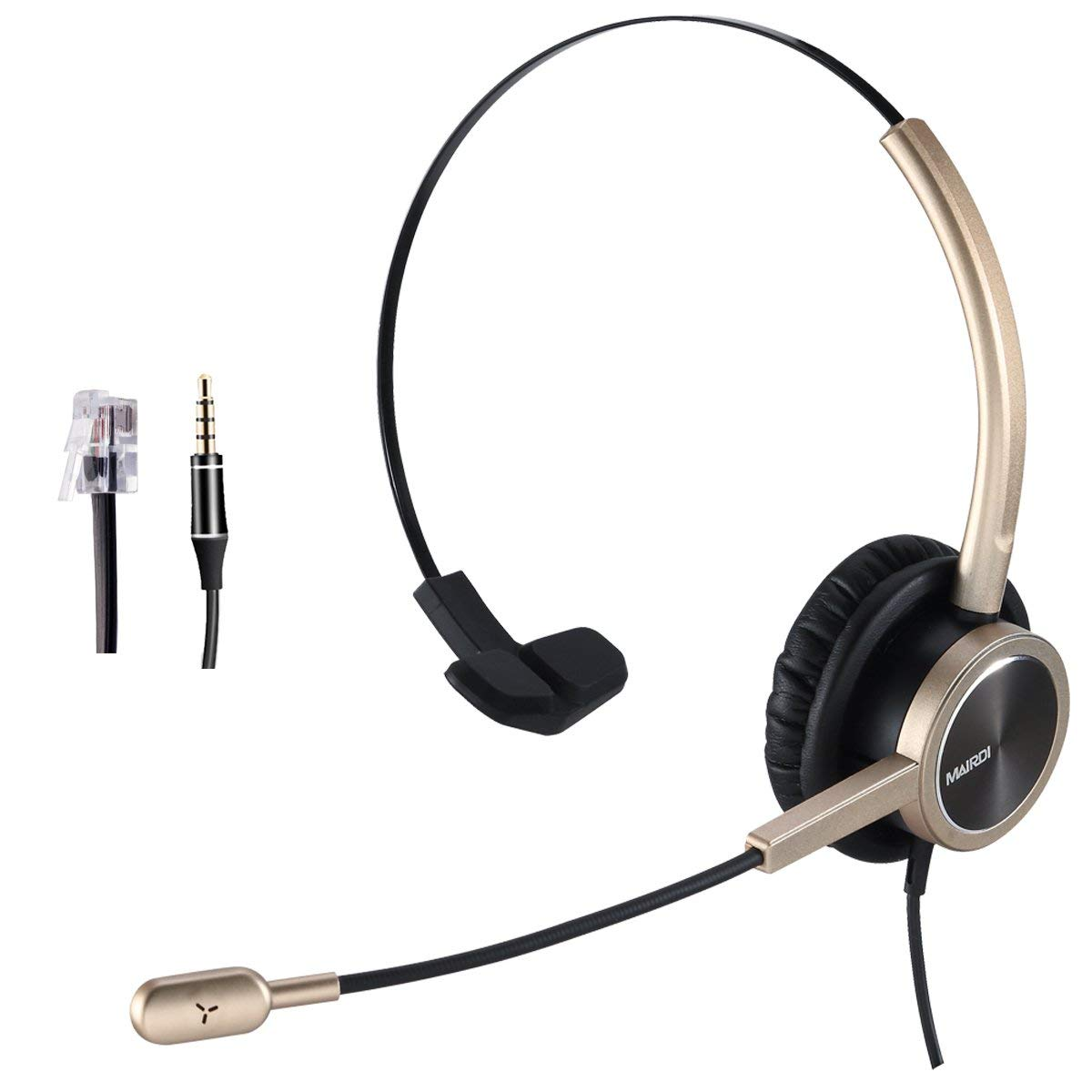 41d2a4a87db Get Quotations · Telephone Headset with RJ9 for Cisco Phone Call Center  Headset With Noise Cancelling Microphone With Extra